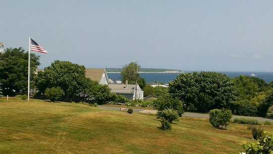 The Atlantic Inn: View from the lawn of the Inn towards the water