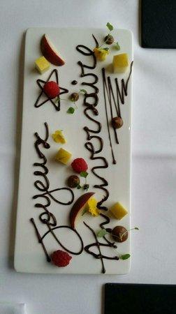 Restaurant David Selen: Merci chef pour votre attention pour l anniversaire de ma femme