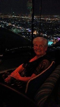 Skyview Bar: Mum enjoying the view :)
