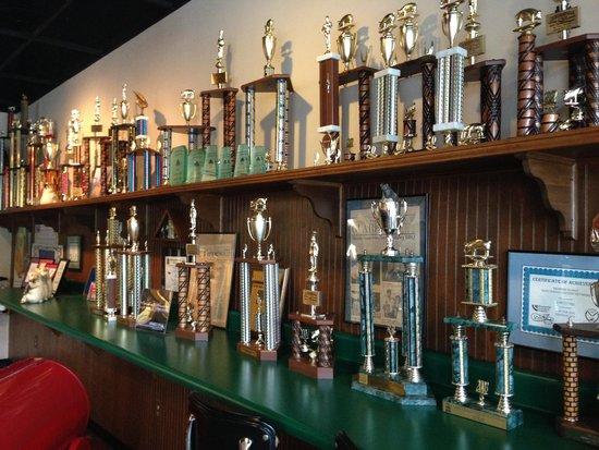 Whole Hog Cafe: Display of awards