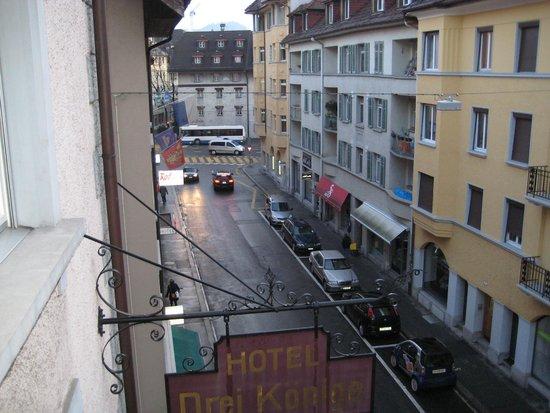 Drei Konige Hotel Lucerne: Вид с балкона отеля