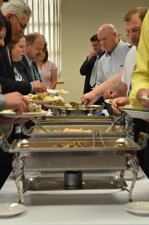 Acropolis Restaurant & Catering: Everyone dig in!
