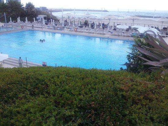 Dan Accadia Hotel Herzliya: наш бассейн и через бассейн есть выход на песчанный пляж