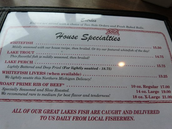 The Galley Restaurant: House Specialties