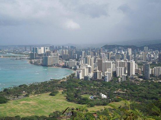 Diamond Head State Monument: Honolulu view from Diamond Head