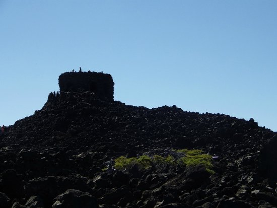 Dee Wright Observatory: A really bad photo of the Observatorty itself.