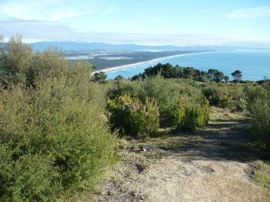 Mount Maunganui Summit Track: From the top of The Mount looking toward Matakana Island and the Coromandel Ranges