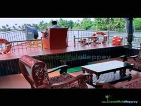 Kerala Backwaters: House Boat Front Sitting Area
