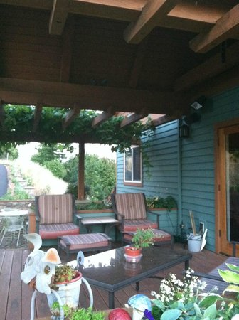 Chehalem Ridge Bed and Breakfast : porch, sitting area