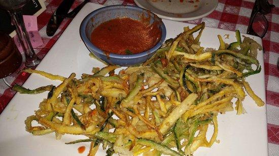 Frankie's Ristorante Italiano: Great Zucchini Fritti with Marinara Dipping Sauce