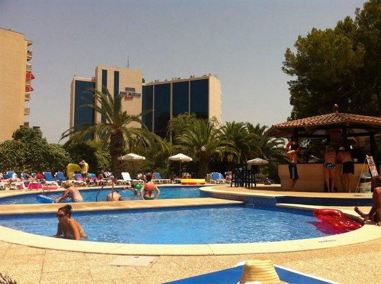 Sol Lunamar Apartamentos: Pool area July