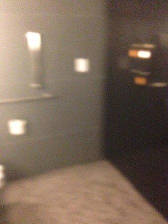 Hilton Richmond Hotel & Spa / Short Pump: lockers across from toilet
