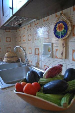 cucina con lavello angolo cottura e frigo a disposizione - Foto di ...