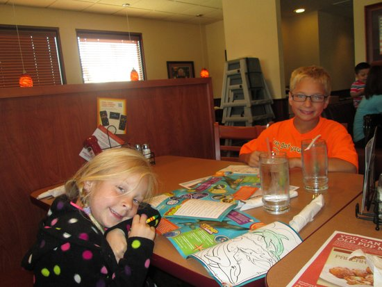 Grandkids enjoy Denny's