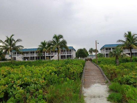 Sanibel Arms West Condominium : View of E4 from Sanibel Beach