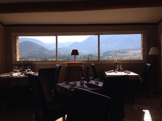 L'Oustau de la Font : Dinner and a view