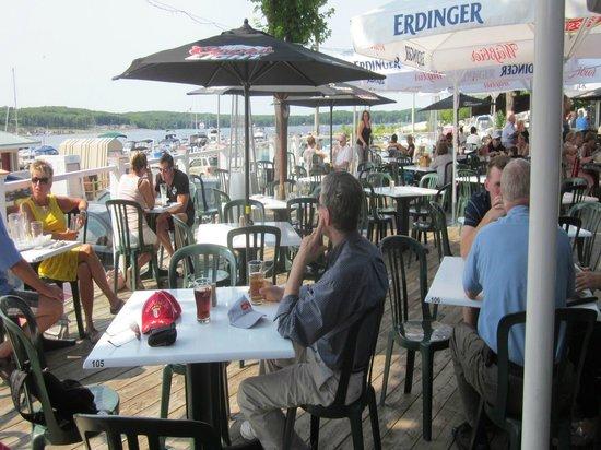 The Boathouse Eatery: patio