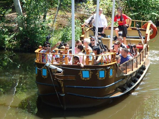 Story Land: Pirate Ship. Ahoy Mate. All aboard and kids will row the boat