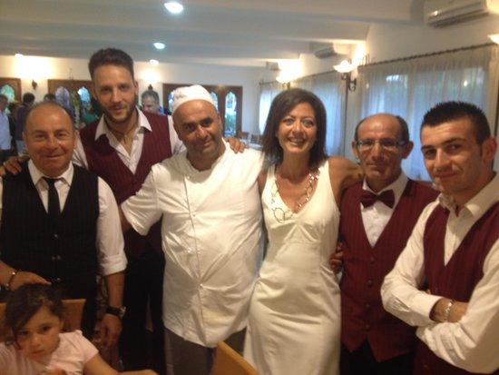 Family Spa Hotel Le Canne: con lo chef,  il maitre e  il personale di sala