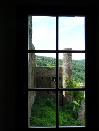 Burg Rheinfels: View from inside the museum