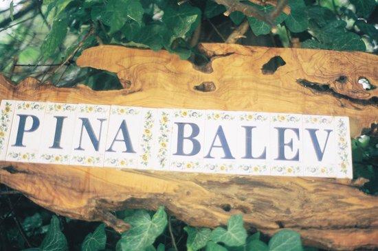 Pina Balev : Entrance sign