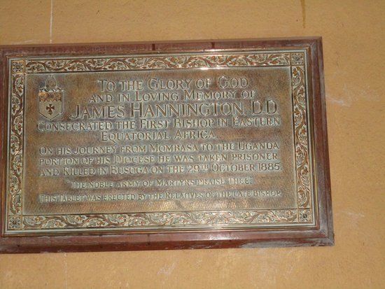 Namirembe Kathedrale: Memorial plate to the early missionary