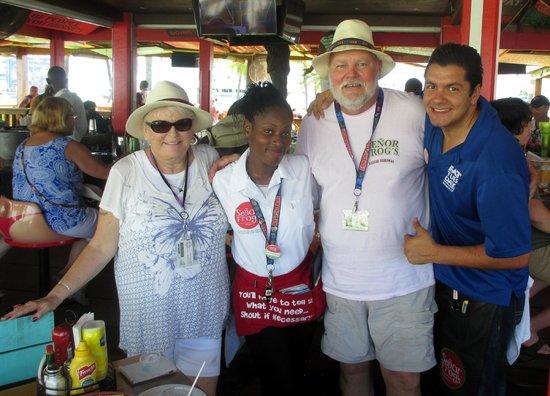 Señor Frog's: Katrina & Rafa with my wife and I