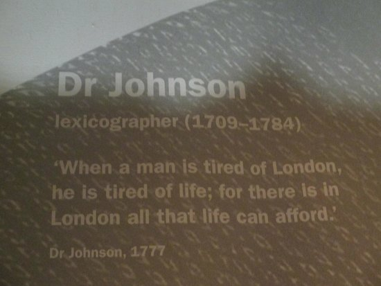 Museum of London : Great quote about London