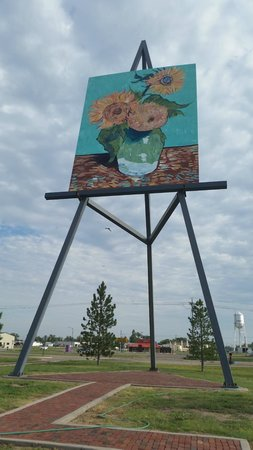 Giant van Gogh Painting: The Big Easel, a painting by Van Gogh