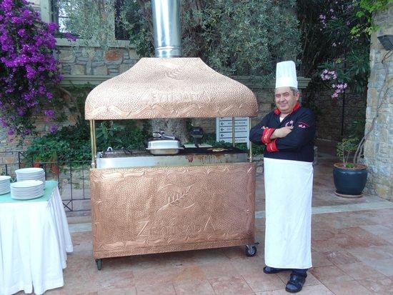 Hotel Zeytinada: le grill au charbon de bois