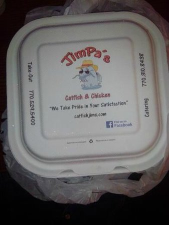 Jimpa's by Catfish Jim: Box the Food comes in