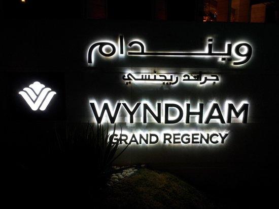 Wyndham Grand Regency Doha : Name Board