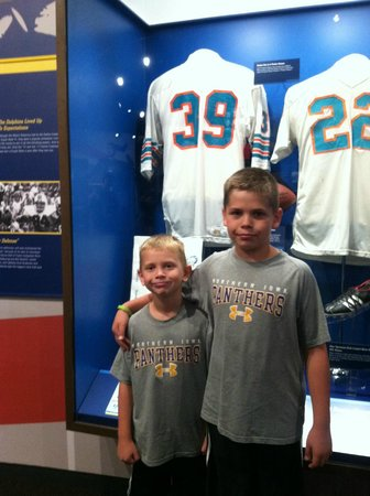 Pro Football Hall of Fame: Standing next to Larry Csonka's jersey