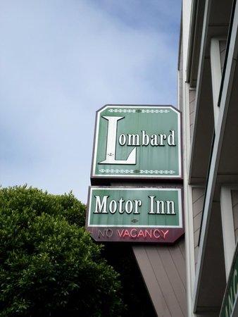Lombard Motor Inn: the sign