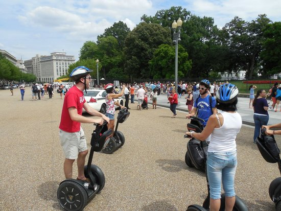 City Segway Tours DC : Ryan giving us historical information about the White House