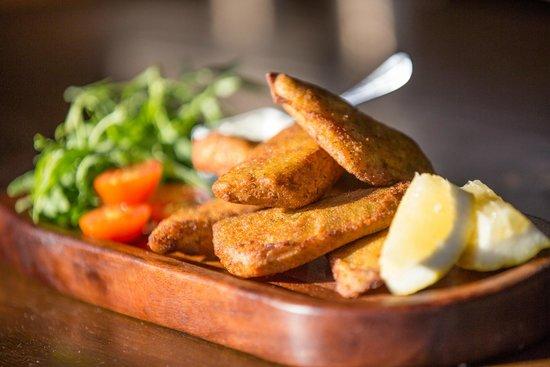 Parrilla Natural : Fried Fillet of Tilapia Fish with tartare sauce