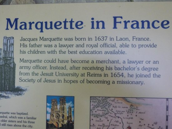 Father Marquette National Memorial: Father Marquette in France