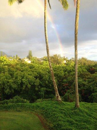 Ali'i Kai Resort : Rainbow from Alii Kai in Princeville