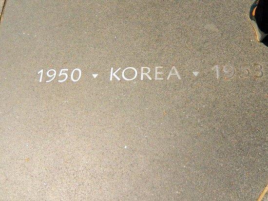 Korean War Veterans Memorial plaque