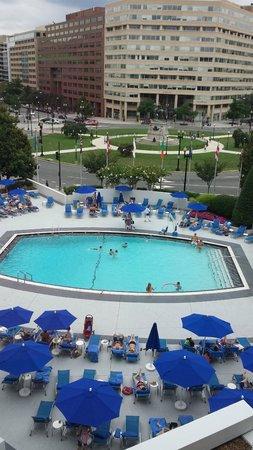 Washington Plaza Hotel: Window View