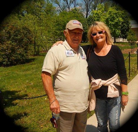 National World War II Memorial: WW II Veteran - Vincent Gage and myself at the Memorial