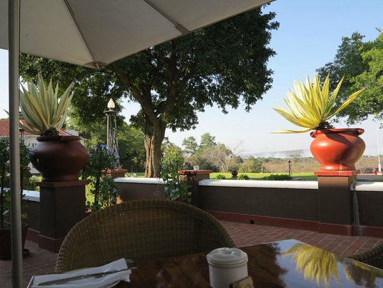The Victoria Falls Hotel : view from the terrace
