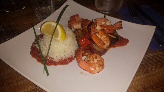 Pierre Victoire: King prawns with rice