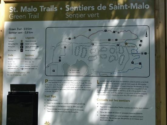 A Trail Map - Picture of St  Malo Provincial Park, Saint