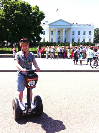 City Segway Tours DC : Me on Segway in front of White House
