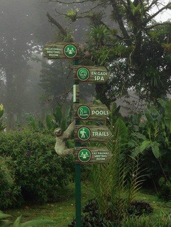 Hotel Montaña de Fuego Resort & Spa: As placas de indicação de locais dentro do Hotel