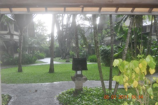 Hotel Vila Lumbung: View from room of gardens