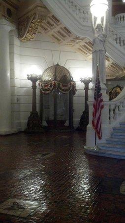 Downtown Harrisburg: Display inside Capital Bldg.