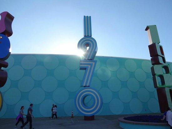 Disney's Pop Century Resort: Each decade has its own font