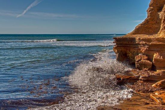 Sunset Cliffs Natural Park: Splashing Below
